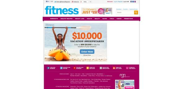 fitnessmagazine.com/win10k – Fitness Magazine $10,000 Subscription Sweepstakes