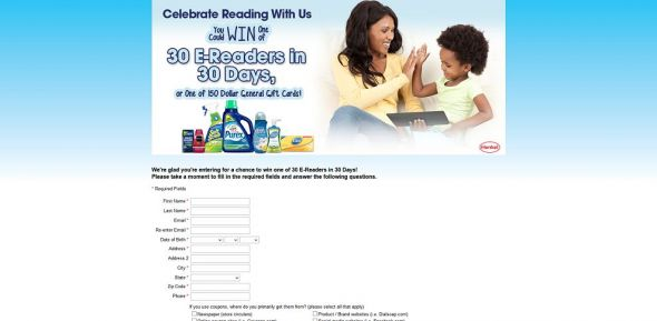 Henkel 30 E-Readers in 30 Days Sweepstakes