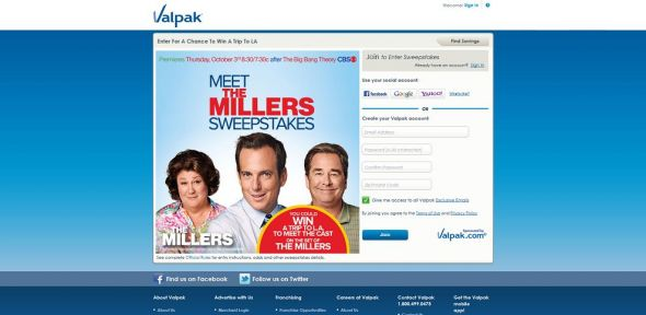 Valpak Win a Trip to The Millers Sweepstakes