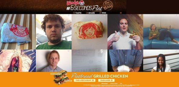 6secondsflatbread.com – Wendy's Flatbread Grilled Chicken 6SecondsFlat Sweepstakes