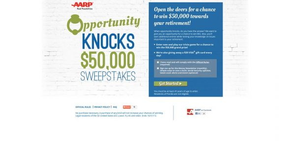 Opportunity Knocks $50,000 Sweepstakes