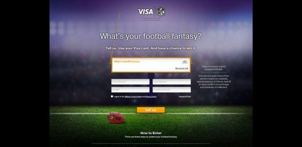 Visa 2013 #MyFootballFantasy Contest