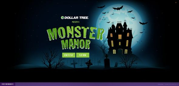 monstermanor.com – Dollar Tree's Monster Manor Halloween Game Sweepstakes