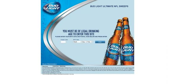 Bud Light NFL Football Sweepstakes