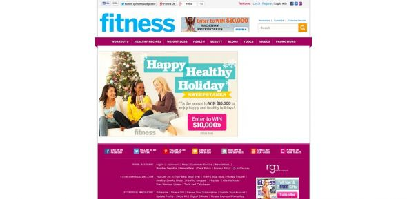 Fitness Magazine Online $10,000 Holiday Sweepstakes