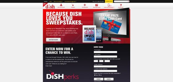 Because DISH Loves You Sweepstakes