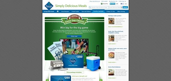 Sam's Club Big Game Day Sweepstakes