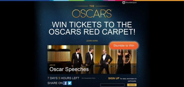 Stumble The Oscars Sweepstakes