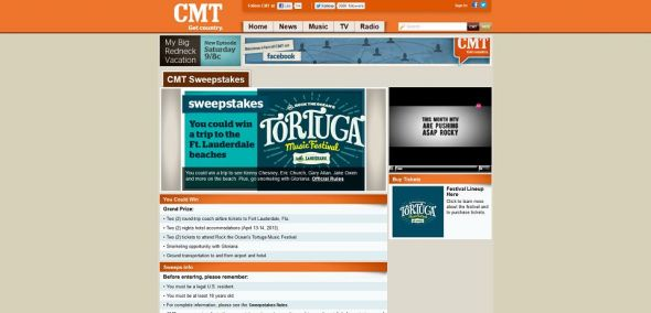 Rock the Ocean's Tortuga Music Festival Sweepstakes