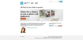 HP Wake Up Your Walls Sweepstakes