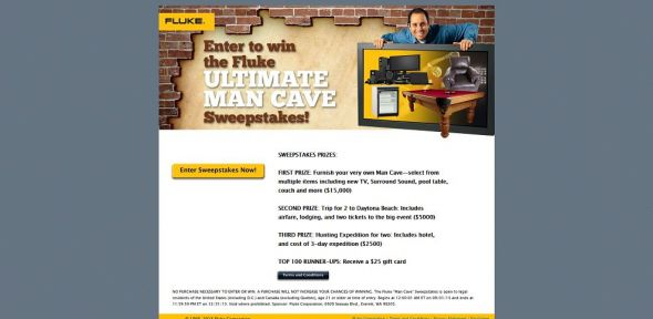 Fluke Man Cave Sweepstakes