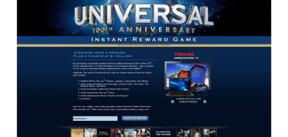 100th Anniversary Celebration Sweepstakes and Instant Win
