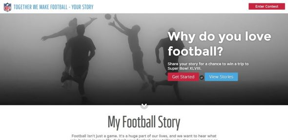 Together We Make Football Your Story Contest