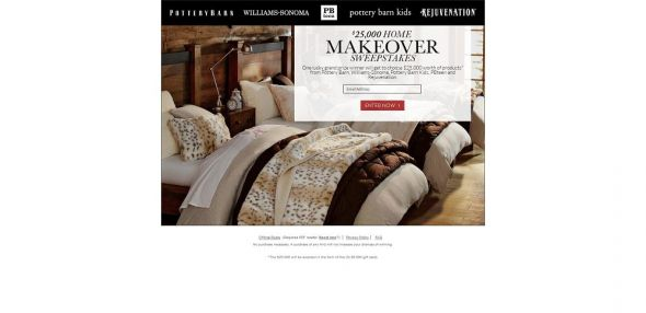 Pottery Barn $25K Home Makeover Sweepstakes