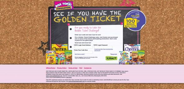 www.costcogoldenticket.com – Costco & Box Tops Golden Ticket Challenge