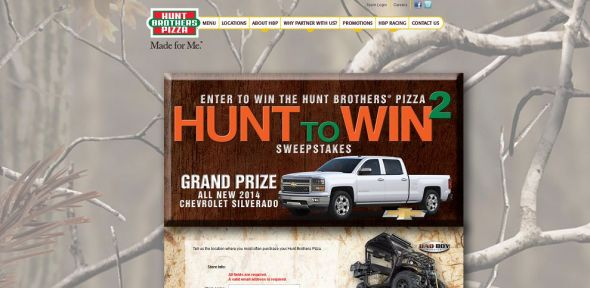 Hunt Brothers Pizza Hunt to Win 2 Sweepstakes