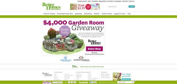 Better Homes and Gardens Garden Room Giveaway Sweepstakes
