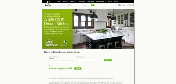 $50,000 Dream Kitchen Sweepstakes
