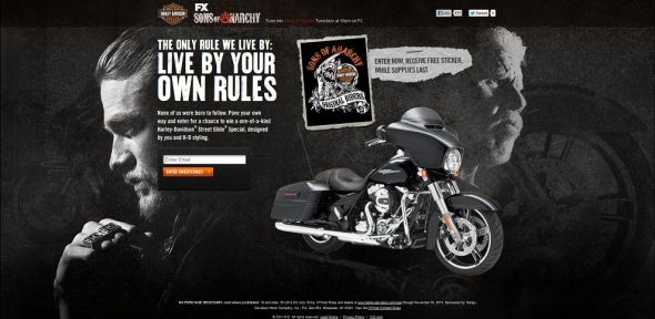 harley-davidson.com/soa – Harley-Davidson and Sons of Anarchy Bike Sweepstakes