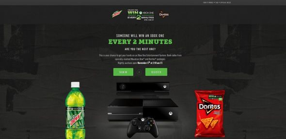 www.every2minutes.com – Mtn Dew Game Fuel Doritos Xbox One Every Two Minutes Promotion