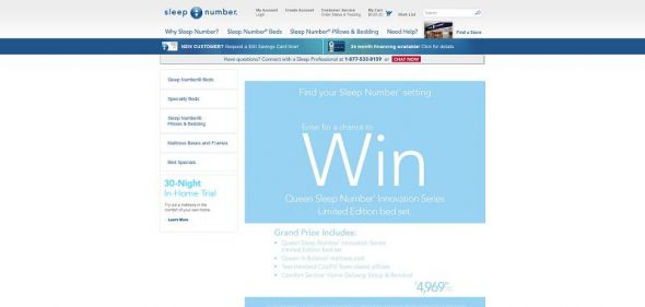 Sleep Number Winter 2013 Sweepstakes