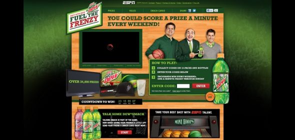 Diet DEW Fuel the Frenzy Sweepstakes
