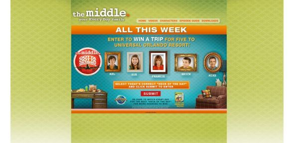 THE MIDDLE The Gotta Gotta Getaway Sweepstakes