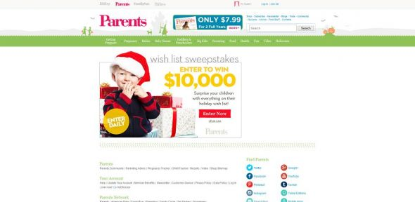 Parents.com $10,000 Shop Sweepstakes
