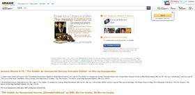 Amazon.com The Hobbit: An Unexpected Journey Extended Edition on Blu-ray Sweepstakes