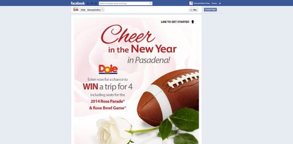 DOLE Cheer In the New Year! Sweepstakes