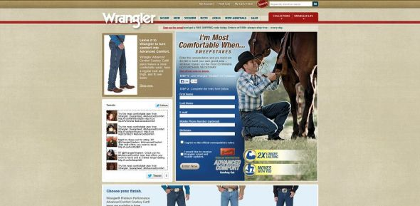 Wrangler I'm Most Comfortable When Sweepstakes