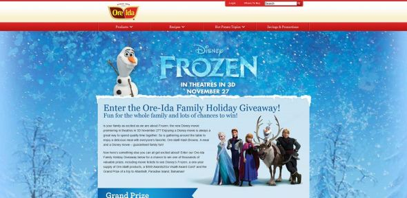 Ore-Ida Family Holiday Giveaway