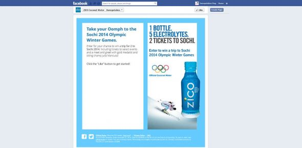 ZICO.com/Sochi2014 – ZICO Sochi 2014 Olympic Winter Games Sweepstakes