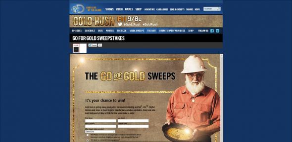 goldrushgiveaway.com – Gold Rush Strike Gold Sweepstakes