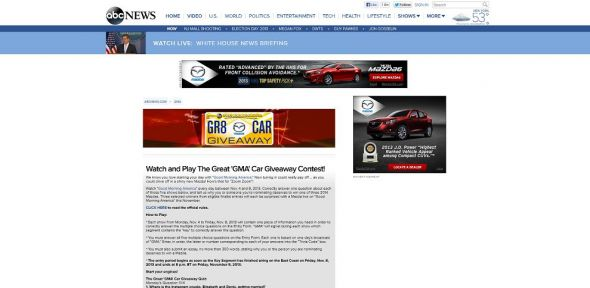 goodmorningamerica.com – Great GMA Car Giveaway