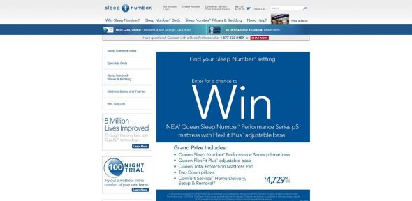 Sleep Number Holiday 2013 Sweepstakes