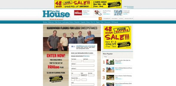 This Old House Hardwood Floors for Less Sweepstakes