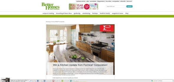 Win a Kitchen Update from Formica Corporation! Sweepstakes