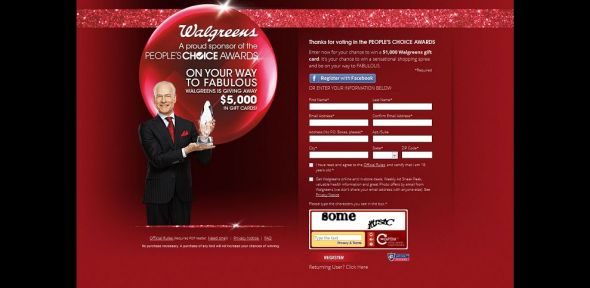Walgreens People's Choice Awards 2014 Sweepstakes