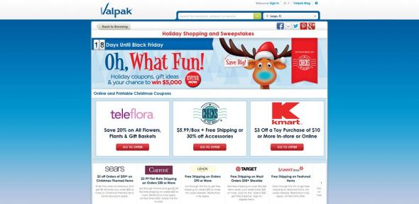 valpak.com/holidays – Valpak $5,000 Holiday Savings Sweepstakes