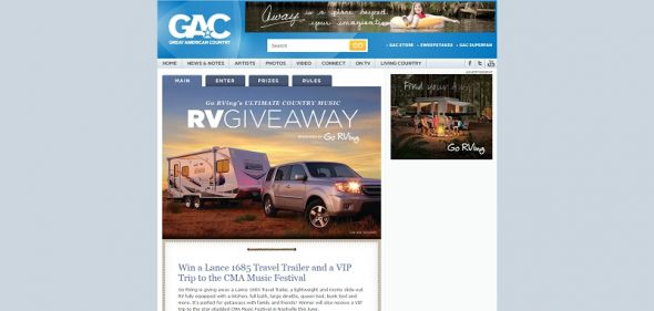 Ultimate Country Music RV Giveaway Sweepstakes