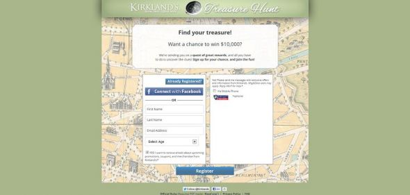 kirklandstreasurehunt.com – Kirkland's Treasure Hunt Sweepstakes