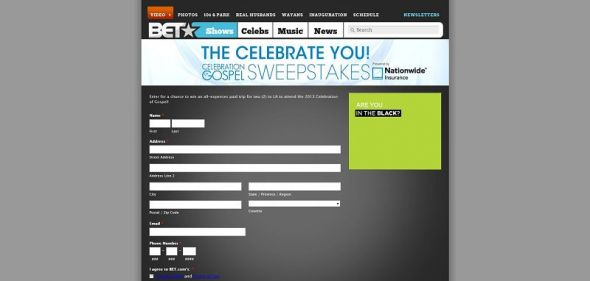 Celebrate You! Celebration of Gospel Sweepstakes