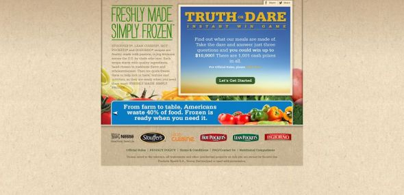 freshlymadesimplyfrozen.com – Nestlé Truth or Dare Instant Win Game