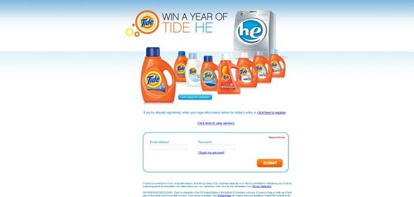tide.com/HE – Tide HE Weekly Sweepstakes