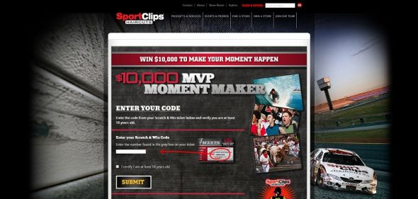 Sport Clips MVP Moment Maker Promotion