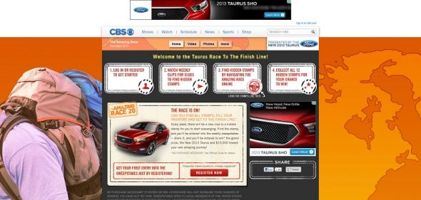 cbs.com/ford – Taurus Race to the Finish Line Sweepstakes