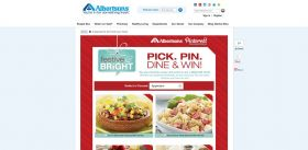 Albertsons Festive & Bright Holiday Pinterest Sweepstakes