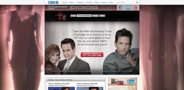 Y&R 40th Anniversary Sweepstakes