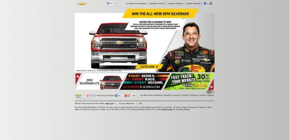 www.winthenewsilverado.com – Win The New Silverado Racing Sweepstakes